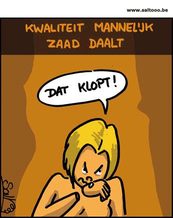 Cartoon: De kwaliteit van het mannelijk zaad daalt
